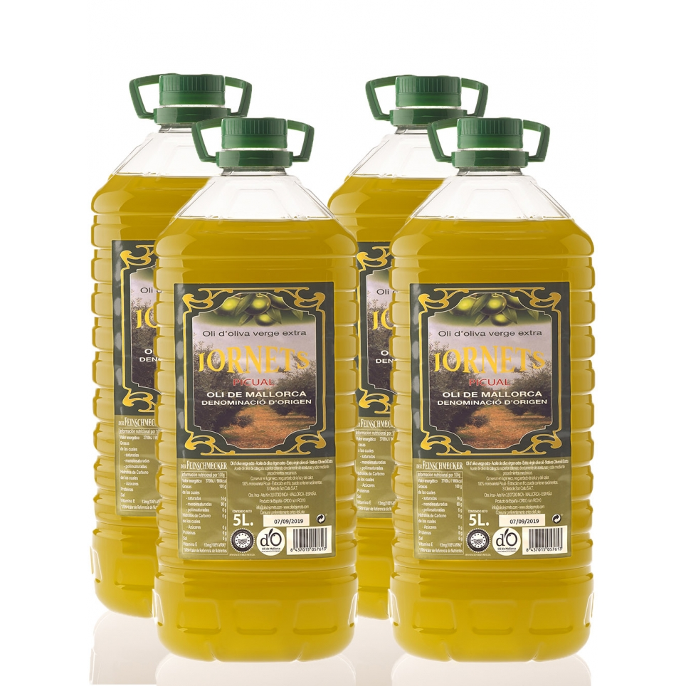 4 x Huile d'olive vierge 5 litres
