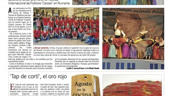 Mil hojas de berenjena con bacalao y aceite de JORNETS Lydia E. Corral Ultima Hora, Mallorca 17/8/14. Serra de Tramuntana.Mallo