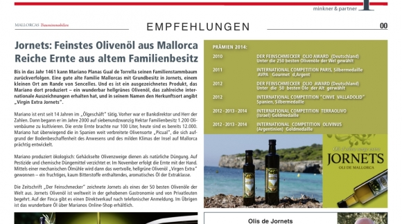 Jornets: The finest olive oil from Mallorca Rich harvest from a family estate